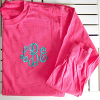 Toddler/Youth Monogrammed Plain Tee Short or Long Sleeve