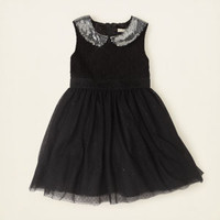 girl - dresses & rompers - sequin collar dress   Children's Clothing   Kids Clothes   The Children's Place