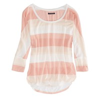 AEO FACTORY SHINE STRIPED T-SHIRT