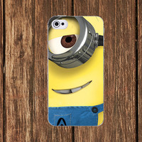 Minion Despicable me iPhone 5 case iPhone 4 case iPhone 4s case Samsung Galaxy s3 case Galaxy s4 Case iPhone Plastic Rubber