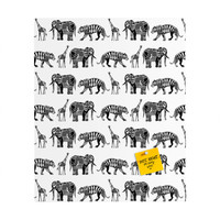 Sharon Turner Graphic Zoo Rectangular Magnet Board