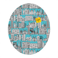 Sharon Turner New York Blue Oval Magnet Board