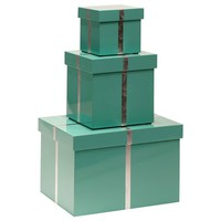 Bungalow 5 Chiffany Blue Rectangle Nesting Boxes Set of 3