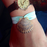 Scallop Shell Bracelet - Sea Foam