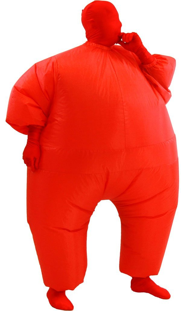 inflatable adult chub suit costume red  amazon