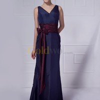 [US$114.99] Gorgeous V-Neck Sash Taffeta Evening Dress