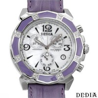 DEDIA Made In Switzerland Day Date Chronograph 0.15 CTW Watch - Deluxe Gifts for Her over $200 Shop - Modnique.com