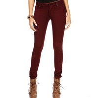 Dark Burgundy Stretch Ponte Pants