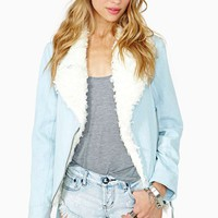 Ice Shearling Moto Jacket