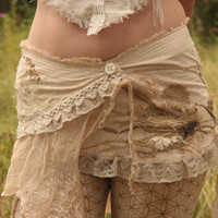 MADE TO ORDER Natural wild wrap skirt, festival burning man boho