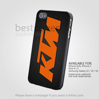 KTM Logo Motocross - iPhone 4/4s/5/5s/5c Case - Samsung Galaxy s2/s3/s4 Case - Black or White