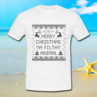 Merry Christmas Ya Filthy Animal - tshirt S,M,L,XL