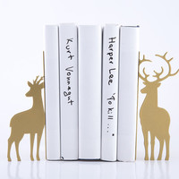 Bookends - Deer Couple - laser cut for precision these metal bookends will hold your favorite books
