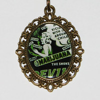 Reefer Madness Pendant Necklace