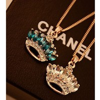 Crown Jewel Of Rhinestone Necklace