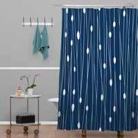 Heather Dutton Navy Entangled Shower Curtain