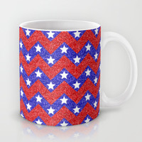 Chevron Star Spangled Banner Mug by Alice Gosling