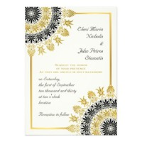 Black, gold Greek ornament destination wedding