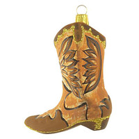 "4"" Cowboy Boot Ornament, Brown"