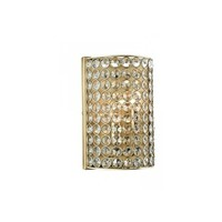 Dar Lighting Frost 2 Light Crystal Wall Fitting in Antique Brass Finish - Dar Lighting from Castlegate Lights UK