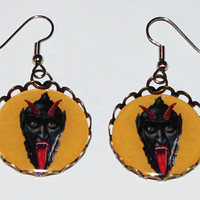 Krampus Christmas Earrings