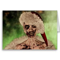 Zombie Santa Custom Christmas Greeting Card