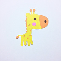 Cricut Baby Giraffe Die Cut- Set of 8- 3""