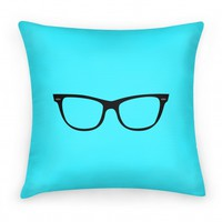 Large Glasses Pillow Blue