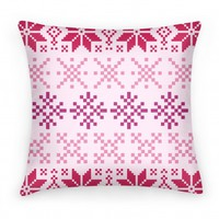 Holiday Sweater Pillow Pink