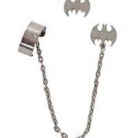 Batman Cuff Earring Set