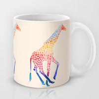 Watercolor Giraffe Mug by Jacqueline Maldonado