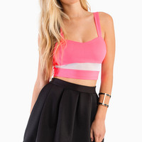 Electric Lane Crop Top $34