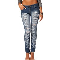 Medium Denim Distressed Jeans