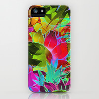 Floral Abstract Artwork G125 iPhone & iPod Case by MedusArt