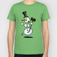 Dancing snowman Kids T-Shirt by Cardvibes