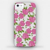 Cream and Pink Floral Pattern (phone case)