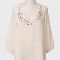 Make A Guess Embellished Curvy Plus Top