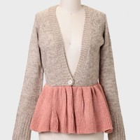 Sugar Plum Colorblocked Cardigan By MM Couture