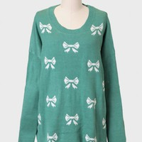 Gift Exchange Bow Print Sweater