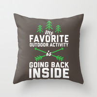 Outdoor Activity Throw Pillow by LookHUMAN