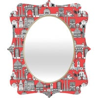 Sharon Turner Los Angeles Coral Quatrefoil Mirror