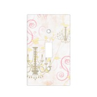 Vintage Chandelier Pink Cream Vines Switch Cover