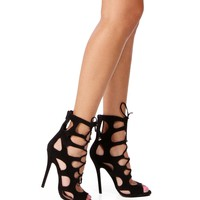 Pre-Order: Black Lace Up Heels