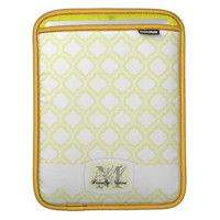 Duo-tone Moroccan Trellis (Yellow) (Monogram)