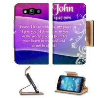 Christian Bible Verse John 14:27 Samsung Galaxy S3 I9300 Flip Cover Case with Card Holder Customized Made to Order Support Ready Premium Deluxe Pu Leather 5 inch (132mm) x 2 11/16 inch (68mm) x 9/16 inch (14mm) MSD S III S 3 Professional Cases Accessories