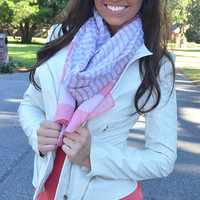 Sweet As Can Be Scarf: Pink/Lavender