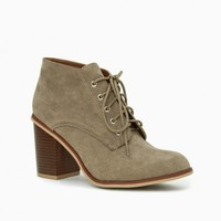 LEWIS LACE UP BOOTIES IN TAUPE
