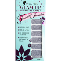Glam Up Instant Nail Wrap - Silver