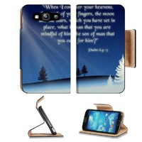Christian bible verse Psalm 8:4-5 Samsung Galaxy S3 I9300 Flip Cover Case with Card Holder Customized Made to Order Support Ready Premium Deluxe Pu Leather 5 inch (132mm) x 2 11/16 inch (68mm) x 9/16 inch (14mm) MSD S III S 3 Professional Cases Accessories