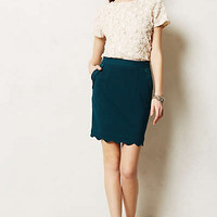 Scalloped Brink Pencil Skirt